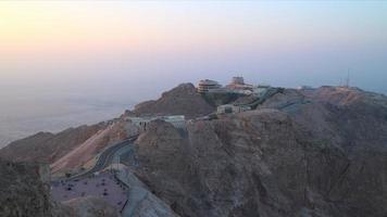 tramonto al ain time lapse luogo turistico vicino a dubai