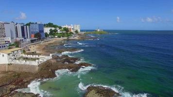 Luftaufnahme der Küste von Salvador, Bahia, Brasilien video