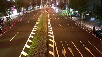 Video 4k de la carretera de medianoche en tokio, japón