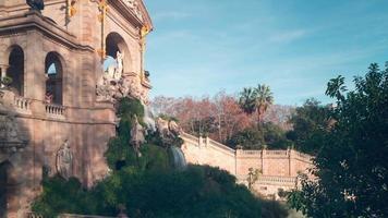 Barcellona scale fontana parco de la ciutadella 4k lasso di tempo spagna