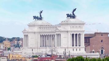 Altare della Patria, Roma, Italia, 4k video