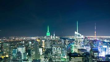 night light manhattan top 4k time lapse de nova york video