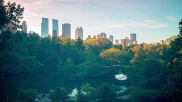 fine della giornata nel lasso di tempo di new york city central park 4K