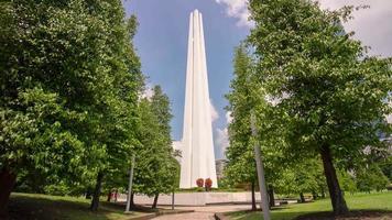 singapore giornata di sole seconda guerra monumento commemorativo 4k lasso di tempo