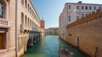 italy venice city summer day famous water traffic canal panorama 4k time lapse