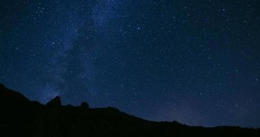 Stars Sky Turning Space Astrophotography Time Lapse, mountain forest video