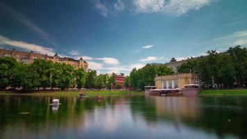 Russia estate giorno Mosca patriarca stagni panorama 4k lasso di tempo video