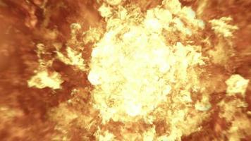 explosão realista de bola de fogo 4k em câmera lenta video