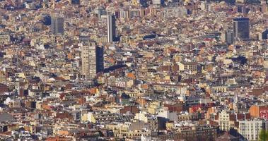 Barcelona sonniger Tag Panorama der Stadt 4k Spanien