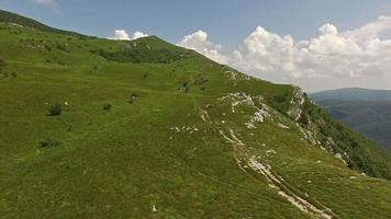 vista aérea, de, nanos, plateau, eslovenia video