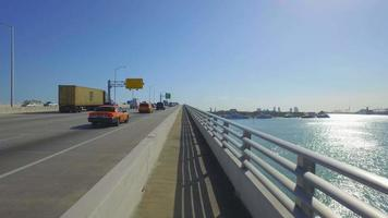 vídeo aéreo the macarthur causeway miami video