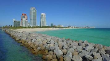 cais e cais de South Pointe em Miami Beach video