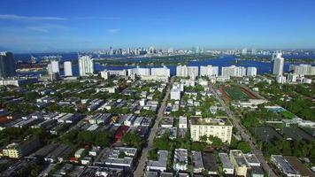 barrios aéreos de miami beach video