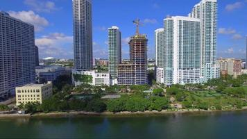 Aerial footage Edgewater Miami video