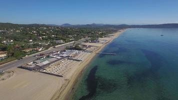 francia, provence alpes-cote-d'azur, var, ramatuelle - saint tropez, veduta aerea della spiaggia di pampelonne