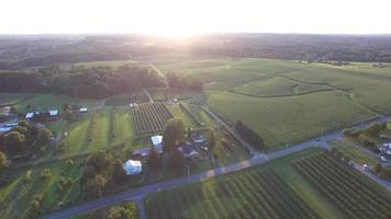 Rural landscape aerial view