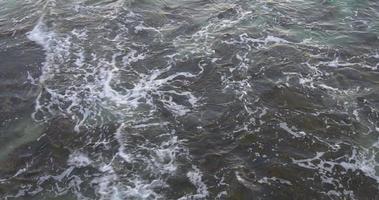 Mittelmeer sauberes Wasser Bodenansicht 4k Spanien