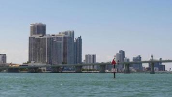 USA giornata di sole miami centro turistico giro in barca 4k florida video