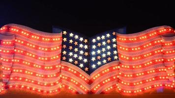 American flag shot in a fairground