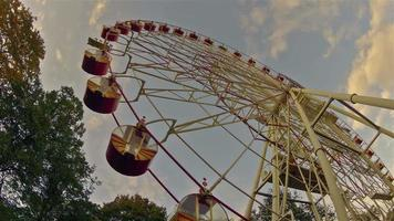 Ferris wheel. Time-lapse shot