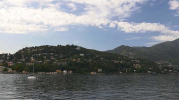 Italia puesta de sol luz famoso panorama de la bahía del lago como 4k