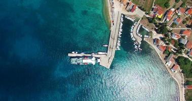 Ferry docked at Olib harbour, Croatia
