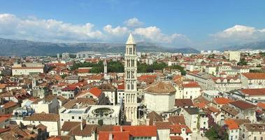 Aerial view of the Cathedral of Saint Domnius in Split