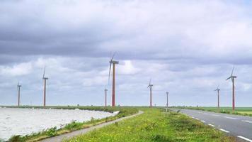 Zeitraffer niederländischer Windmühlen video