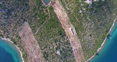 Aerial view Island of Galesnjak, Lover's Island, Croatia