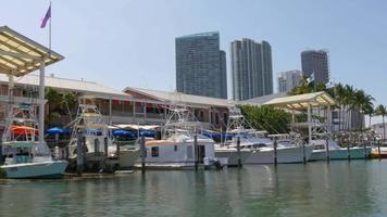 usa summer day miami downtown bayside boat ride 4k florida video