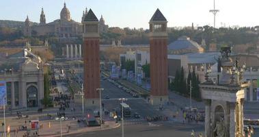 barcelona placa espanya panorama do telhado do palácio real 4k espanha