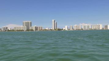 usa summer day north miami boat ride 4k florida video
