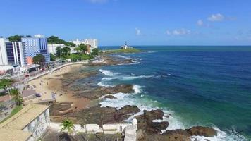 Vue aérienne de la côte de Salvador, Bahia, Brésil