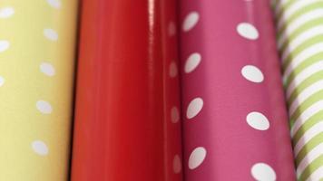 sfondo di rotoli di carta da imballaggio