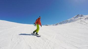 Snowboarden in Hochalpen video