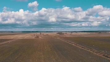 campos agrícolas de rodaje aéreo