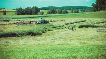 agricultura y cosechadora, campo, alemania
