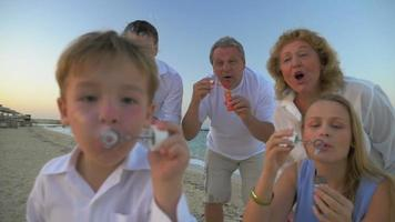 Blowing Soap Bubbles Together video