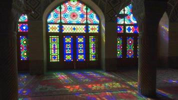 Nasir Al-Mulk Mosque in Shiraz, Iran. Pink Mosque