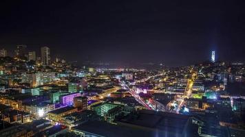 Nacht San Francisco Zeitraffer