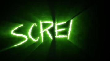 grito de cortes de garra - verde video