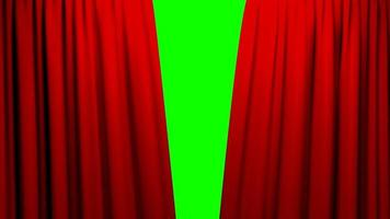 rote Vorhänge öffnen und schließen Bühnentheater Kino Green Screen video