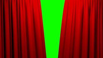 tende rosse apertura e chiusura palco teatro cinema schermo verde