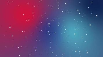 Galaxy animation with light particle stars on blue pink gradient background video