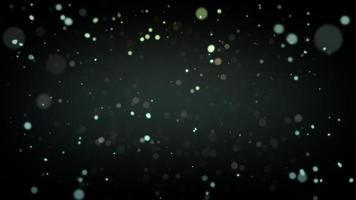 particelle astratte che volano animazione in defocus