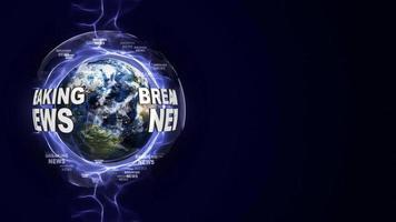 aktuelle Nachrichten Textanimation und Erde, Schleife