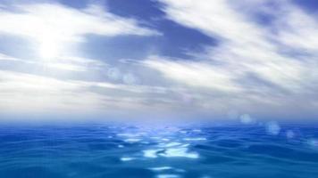 animazione dell'oceano e del cielo