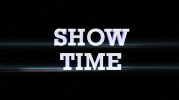 Show Time Text Animation with Alpha Channel, Loop video