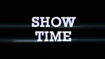 mostra l'animazione del testo del tempo con canale alfa, loop