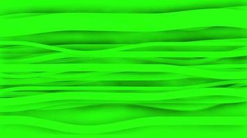 Nahtlose Schleife des Papieranimationshintergrunds der 4k grünen Streifen. video
